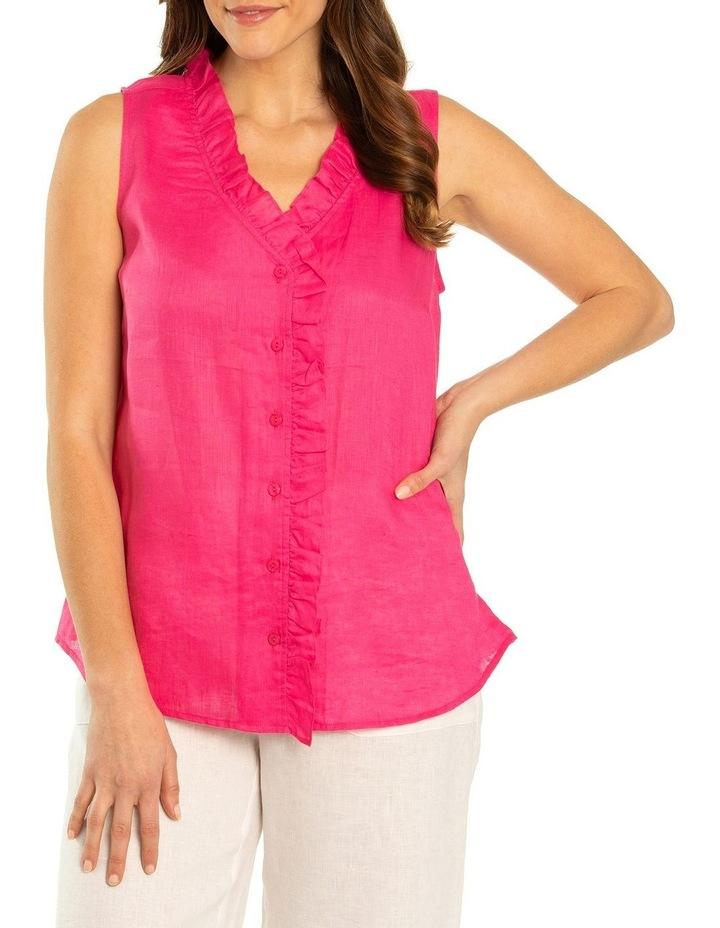 Sleeveless Ruffle Front Shirt image 1
