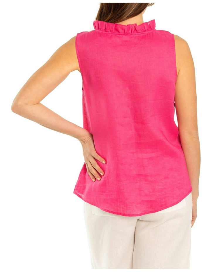 Sleeveless Ruffle Front Shirt image 2