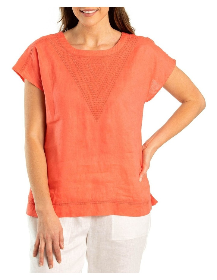 Stitched Linen Top image 1