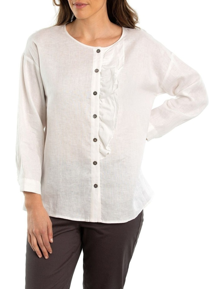 Ruffle Linen Shirt image 1