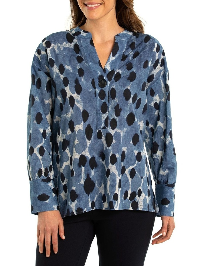 Blurred Spot Print Blouse image 1