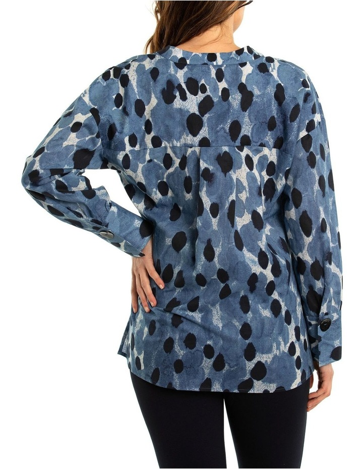 Blurred Spot Print Blouse image 2