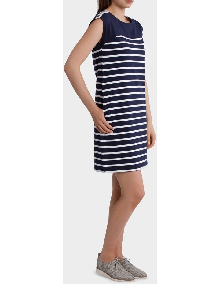 Button Trim Stripe Dress image 2