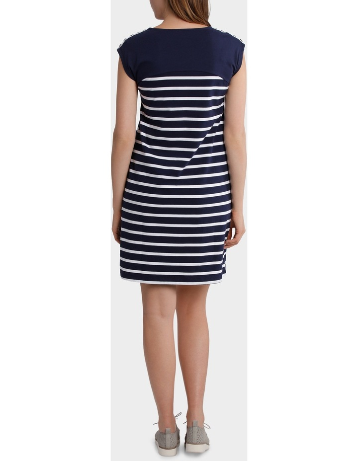 Button Trim Stripe Dress image 3