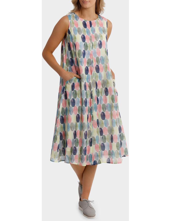 Short Sleeve Soft Spot Print Dress image 1