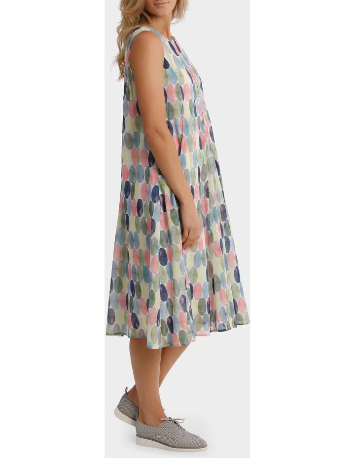 Short Sleeve Soft Spot Print Dress image 2