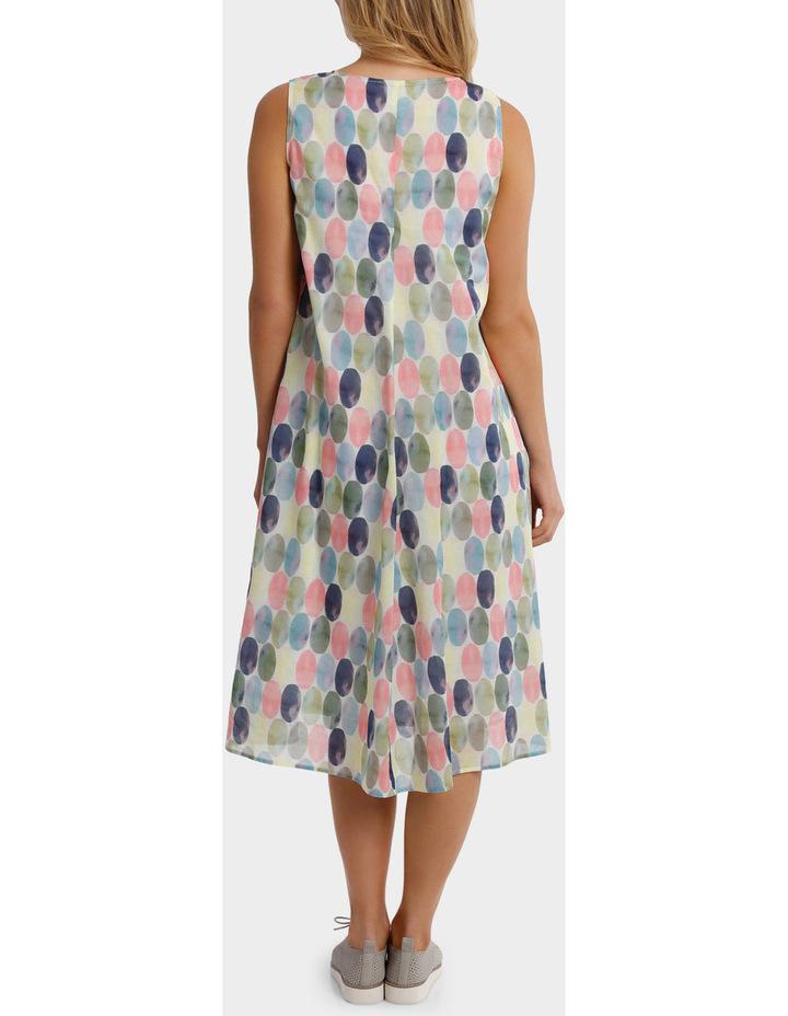 Short Sleeve Soft Spot Print Dress image 3