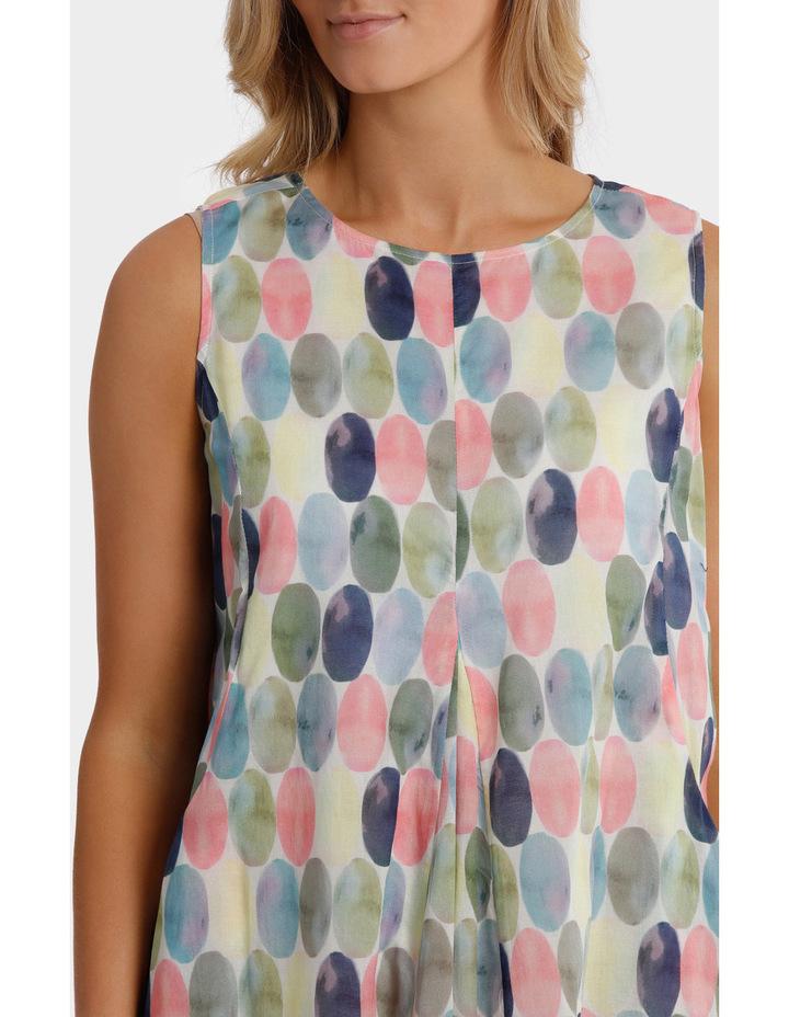 Short Sleeve Soft Spot Print Dress image 4