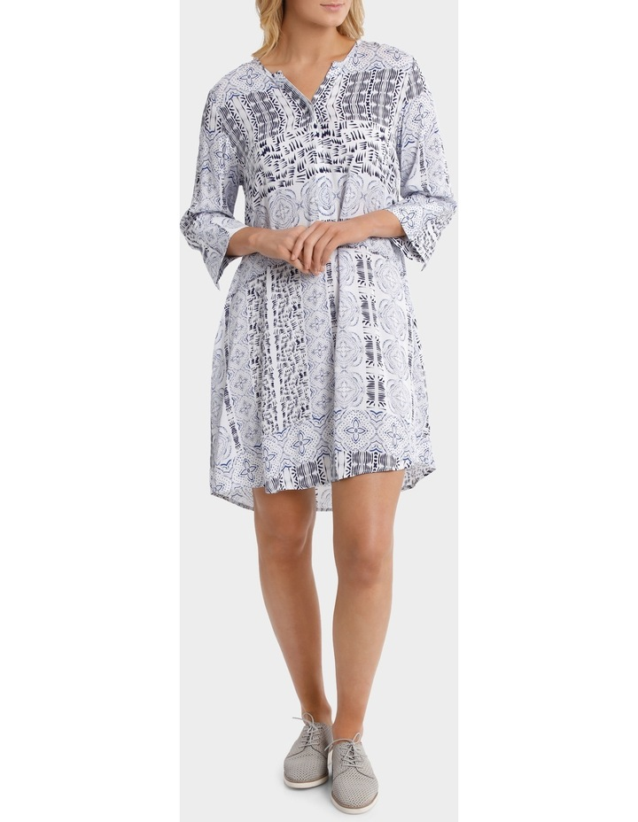 3/4 Sleeve Lisbon Print Dress image 1