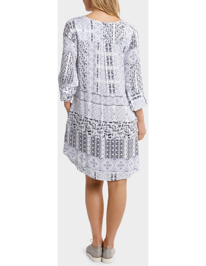 3/4 Sleeve Lisbon Print Dress image 3