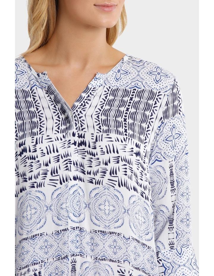 3/4 Sleeve Lisbon Print Dress image 4