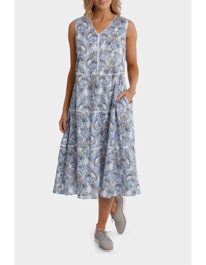 Sleeveless Florentine Print Dress image 1