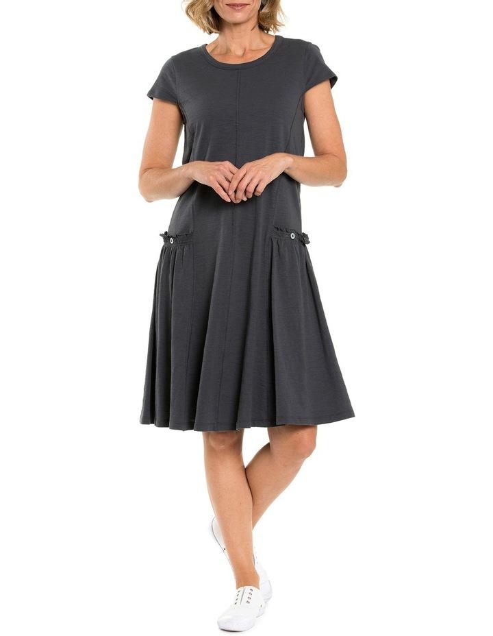 Shortsleeve Panelled Jersey Dress image 1