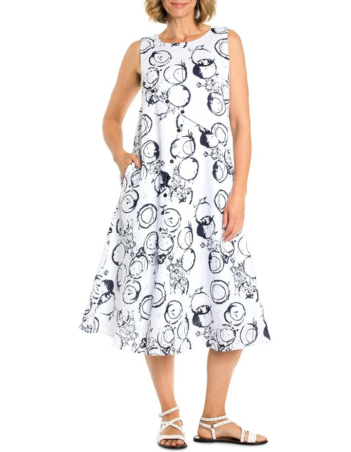 Sleeveless Circle Print Dress image 1