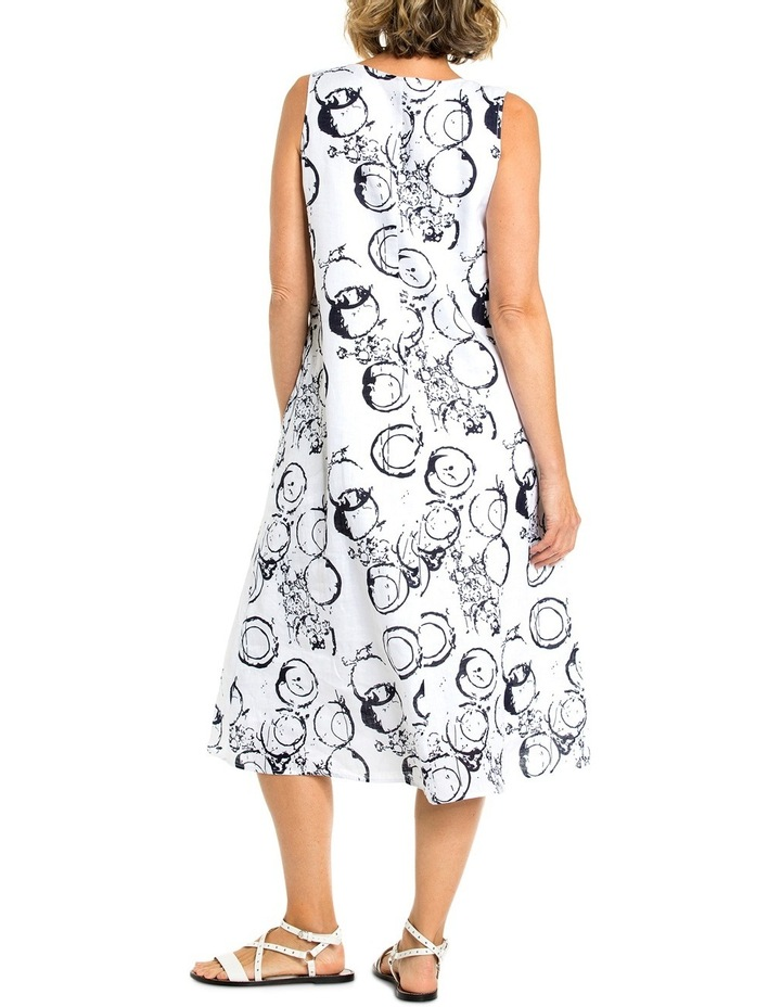 Sleeveless Circle Print Dress image 2