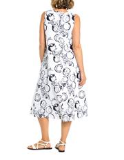 Yarra Trail - Sleeveless Circle Print Dress