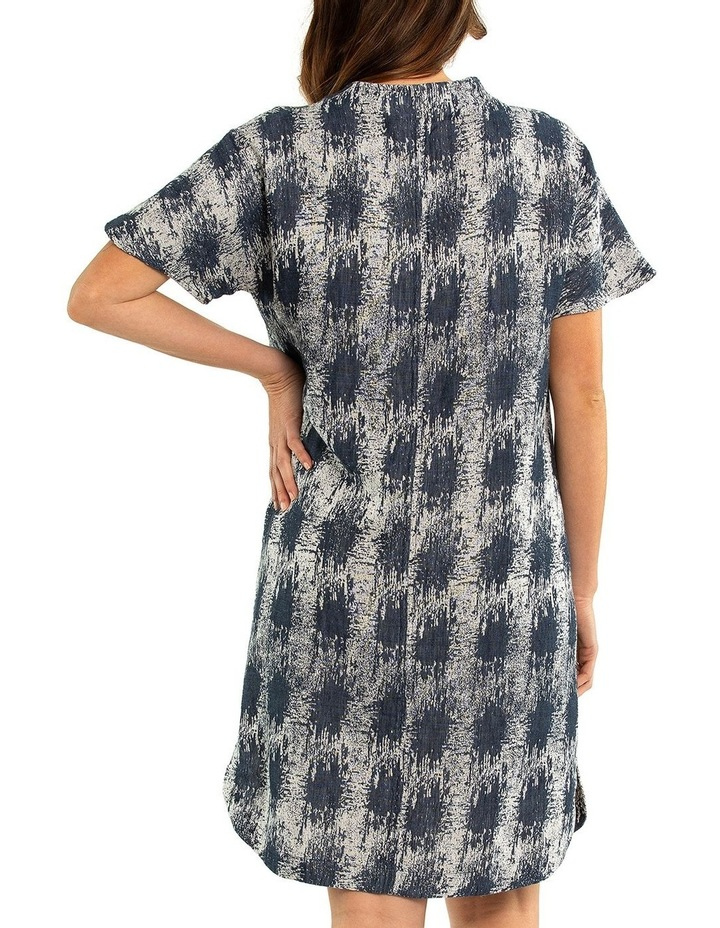 Short Sleeve Jacquard Dress image 2