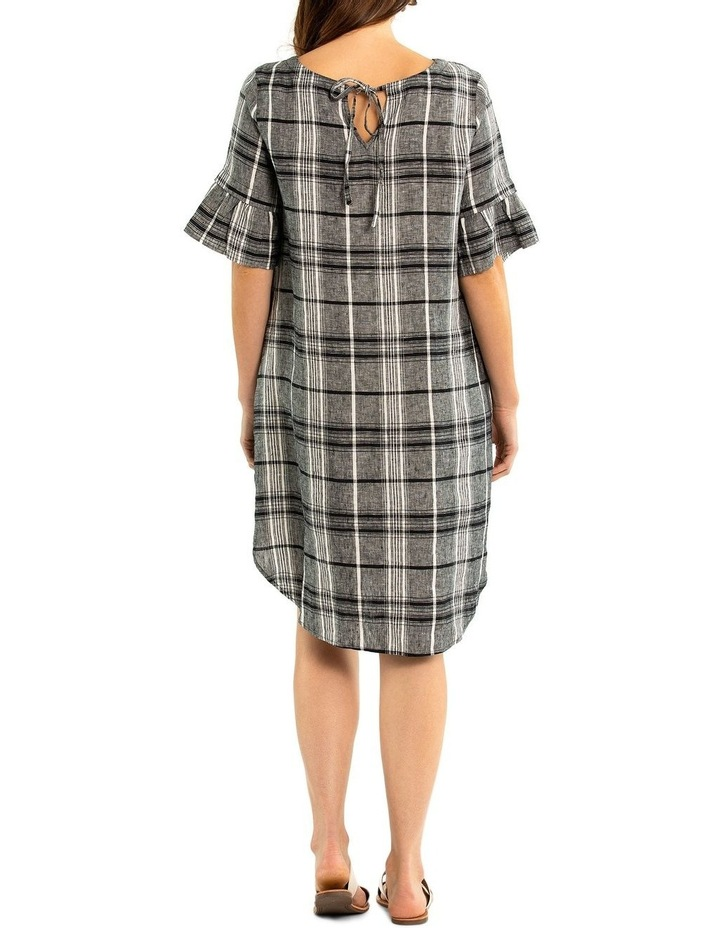 Pleat Sleeve Check Linen Dress image 2