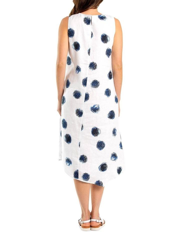 Sleeveless White Swirl Print Dress image 2