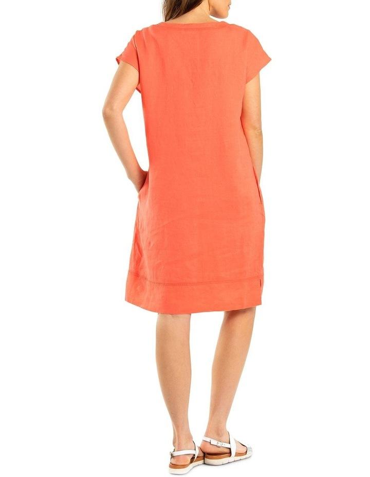Stitch Detail Linen Dress image 2