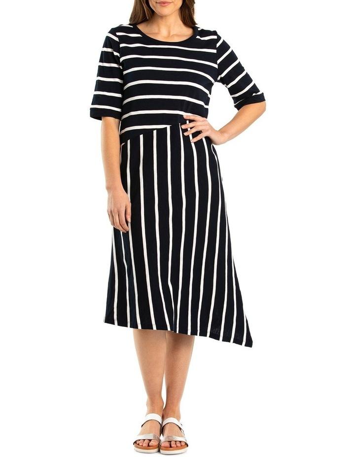 Short Sleeve Striped Jersey Dress image 1