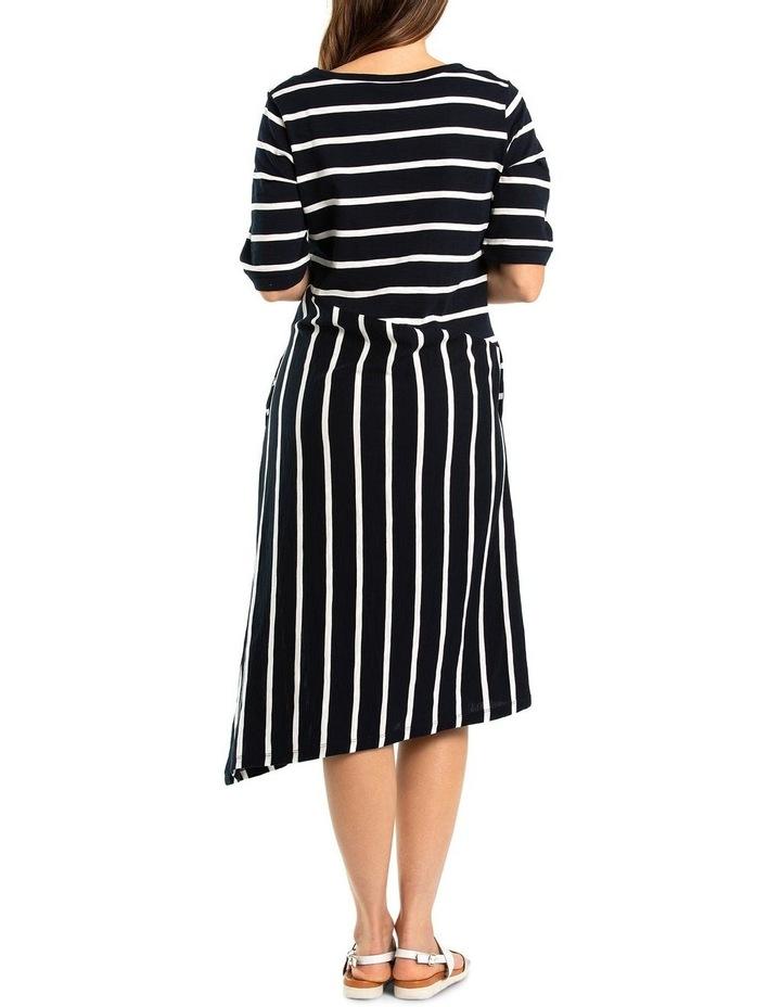 Short Sleeve Striped Jersey Dress image 2