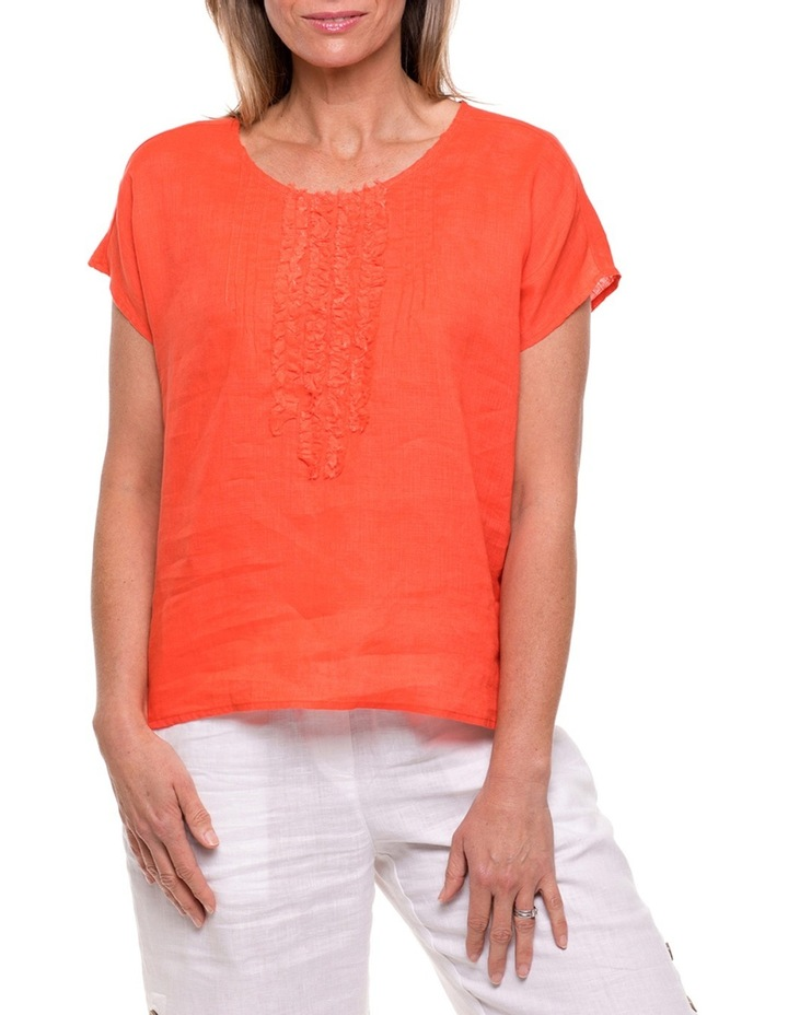 Short Sleeve Tuck Front Top image 1