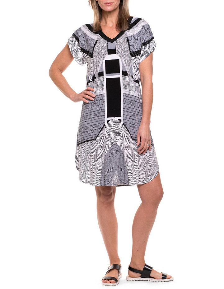 Short Sleeve Tribal Print Tunic image 1
