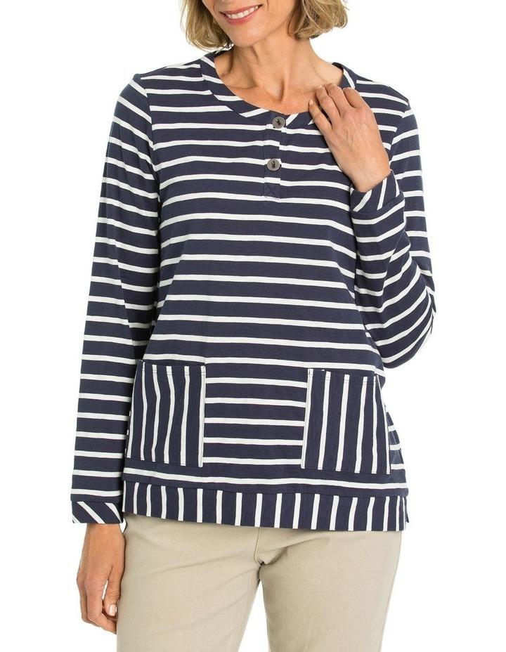 Striped Pocket Tee image 1