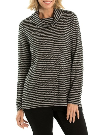 dc464df4e Yarra Trail Cowl Neck Stripe Top