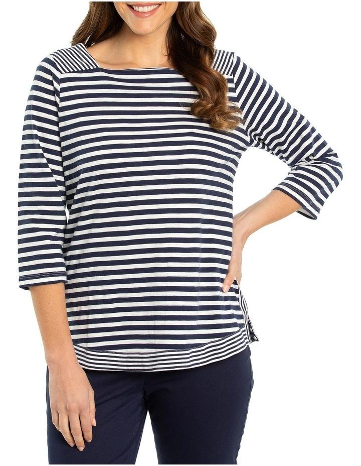 3/4 Sleeve Stripe Tee image 1
