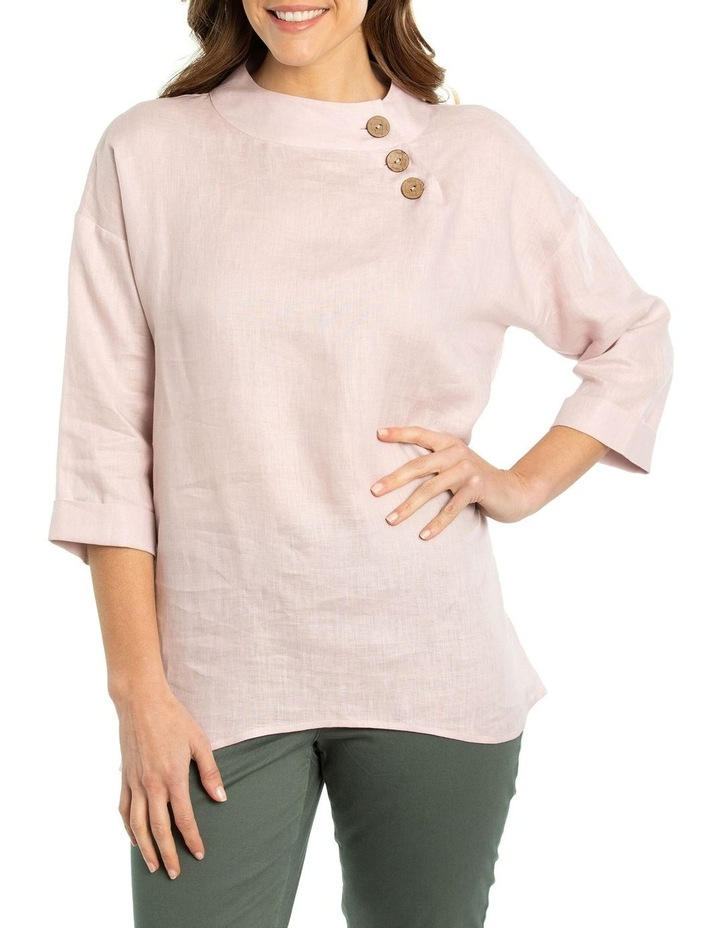 3/4 Sleeve Funnel Neck Top image 1