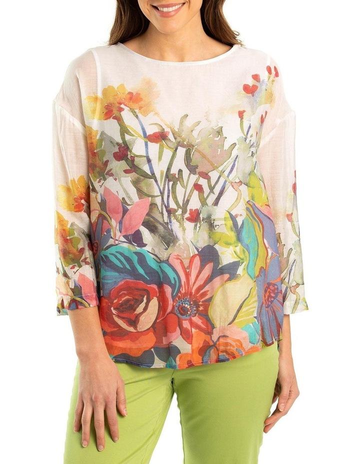 Foliage Print Overshirt image 1