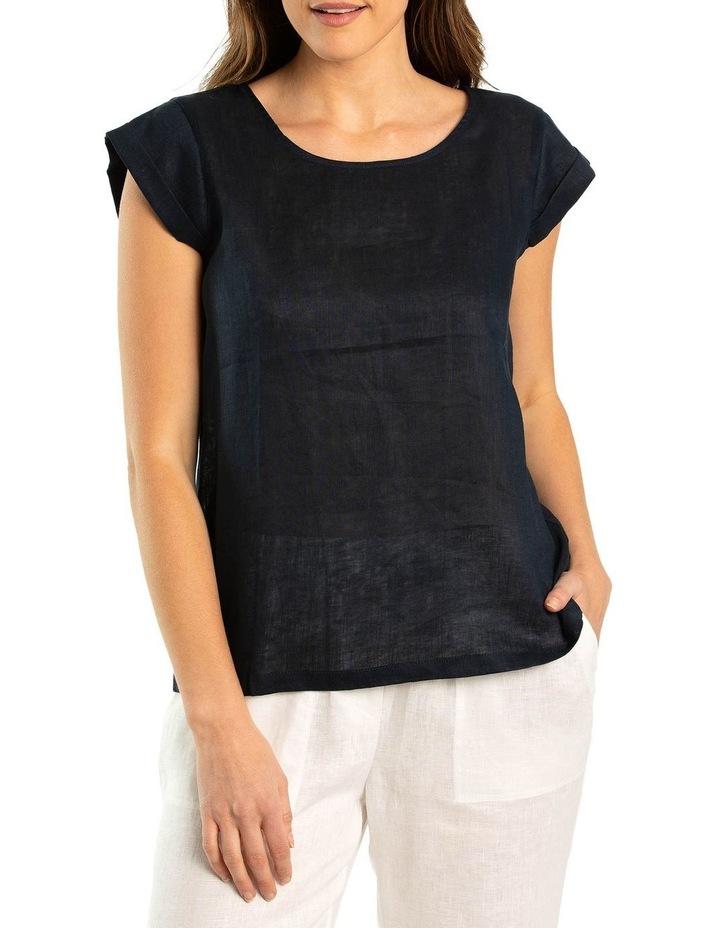 Cap Sleeve Linen Top image 1