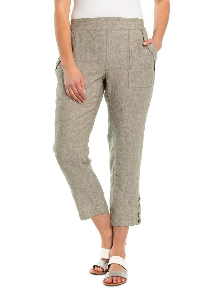 Relaxed Crossdye Linen Pant image 1