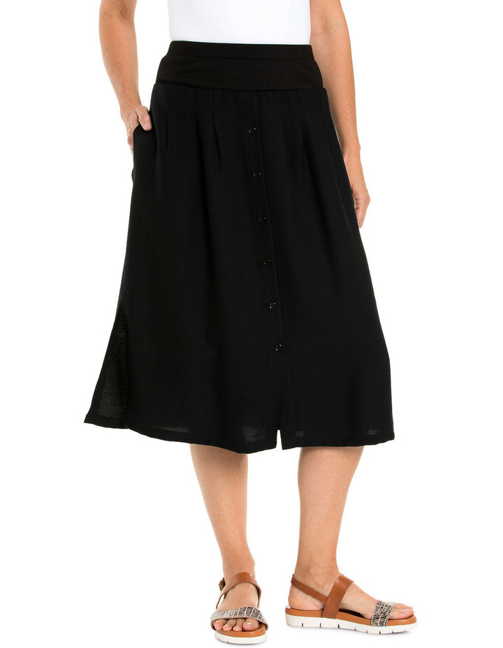 Ribbed Waist Midi Skirt image 1