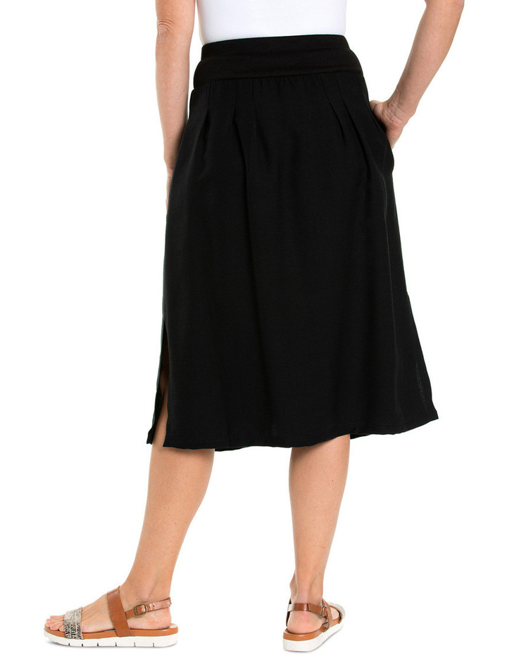 Ribbed Waist Midi Skirt image 2