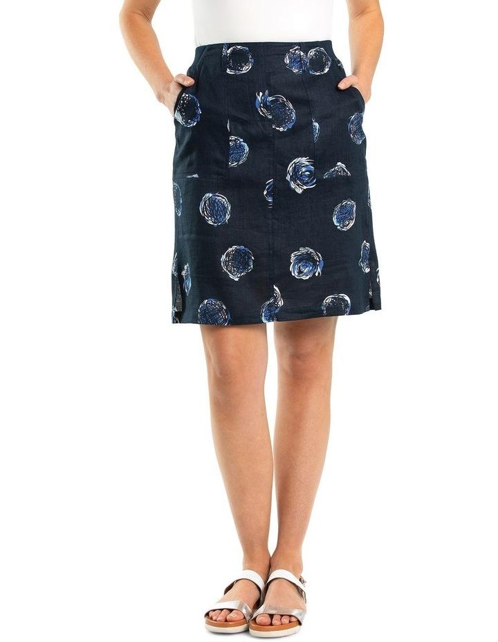 Swirl Print Linen Skirt image 1