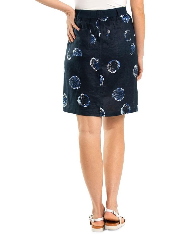Swirl Print Linen Skirt image 2