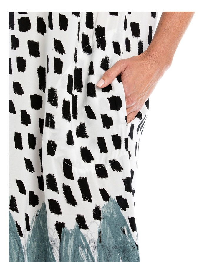 Brushstroke Print Dress image 4