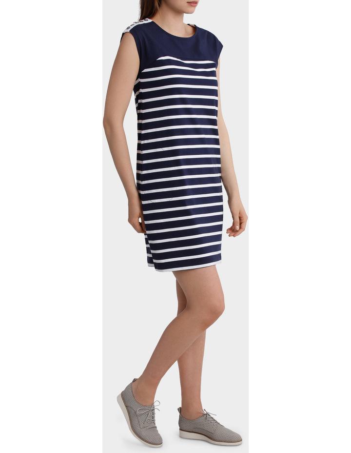 Button Trim Stripe Dress image 2