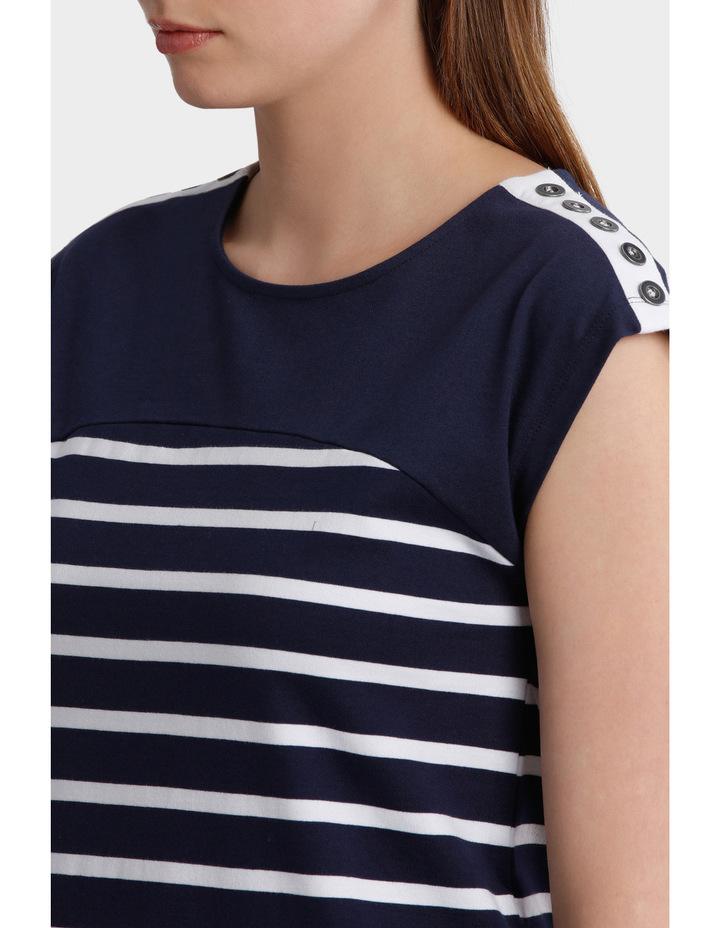 Button Trim Stripe Dress image 4