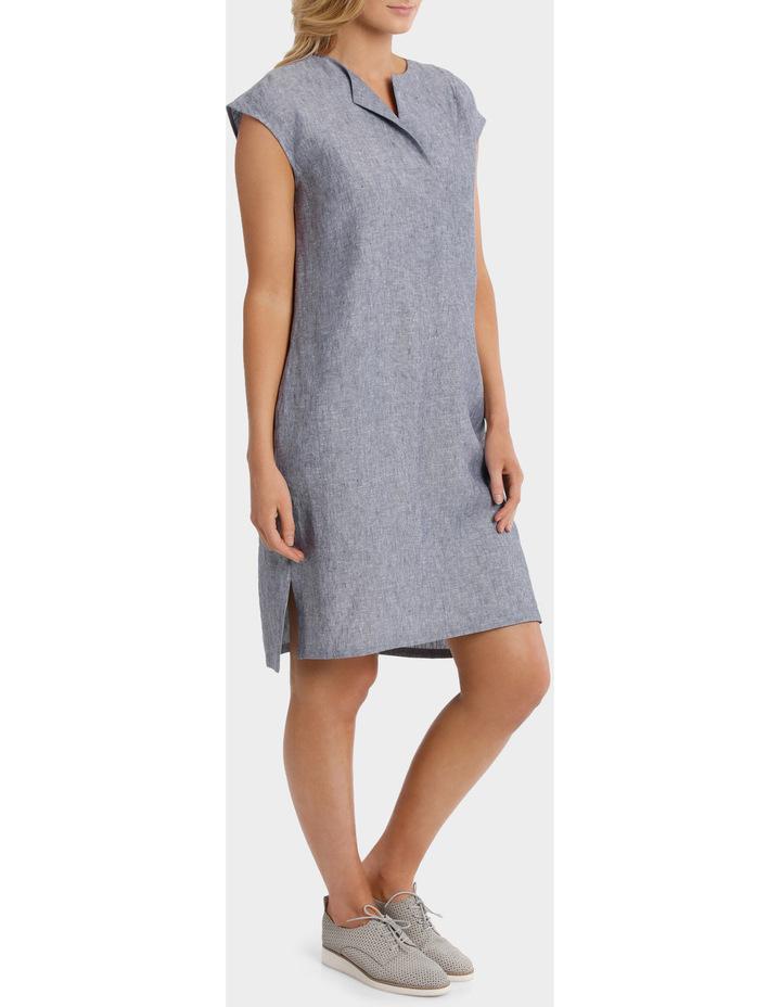 Short Sleeve Crossdye Linen Dress image 2