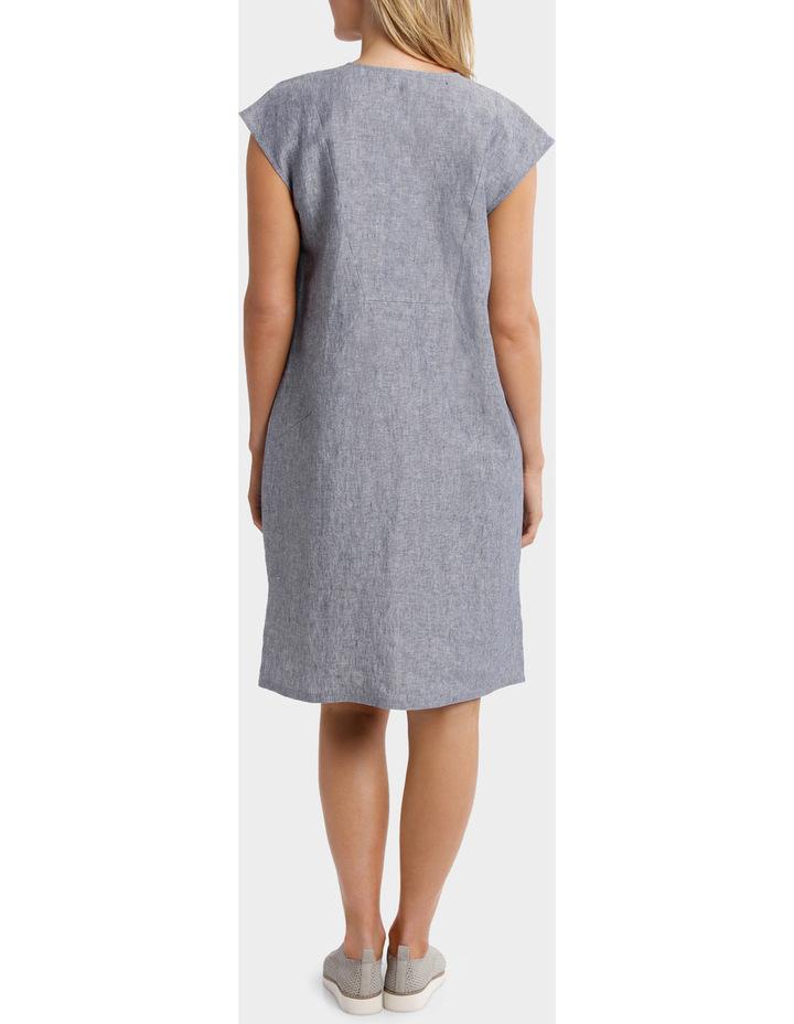 Short Sleeve Crossdye Linen Dress image 3