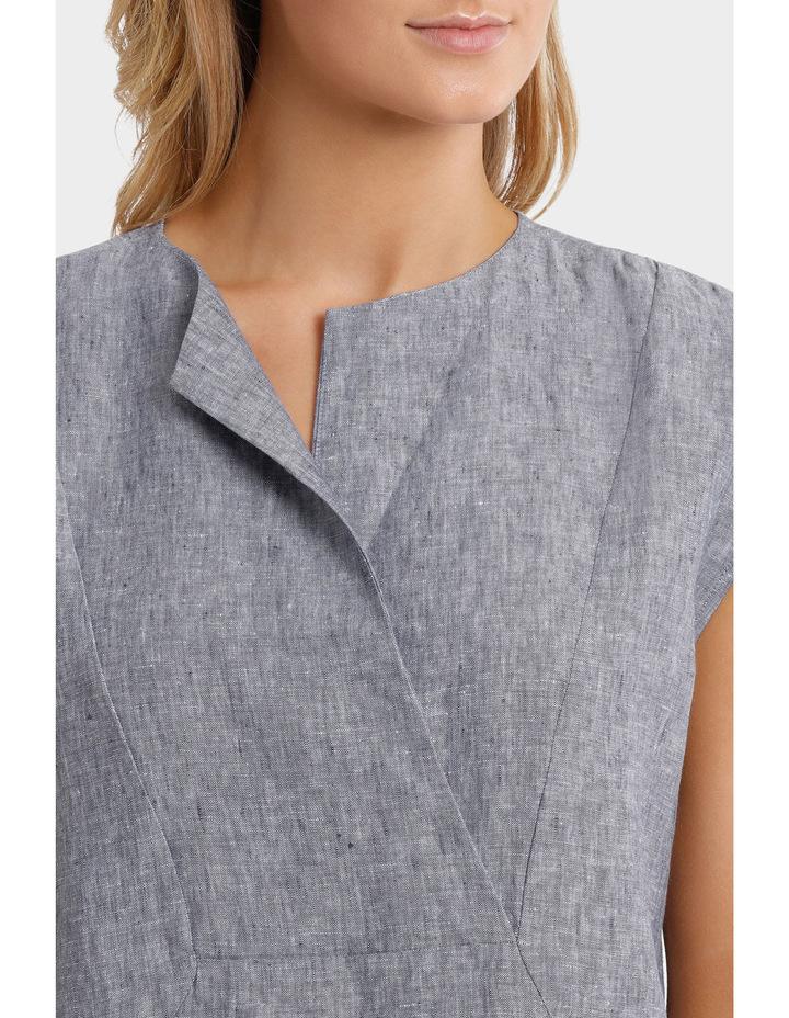 Short Sleeve Crossdye Linen Dress image 4