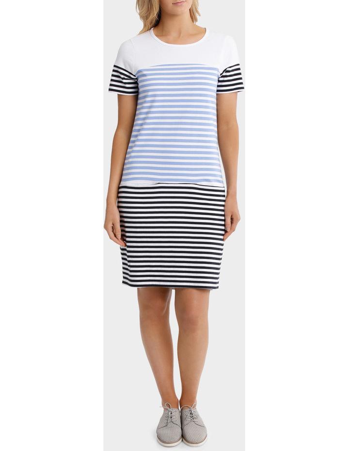 Multi Stripe Jersey Dress image 1