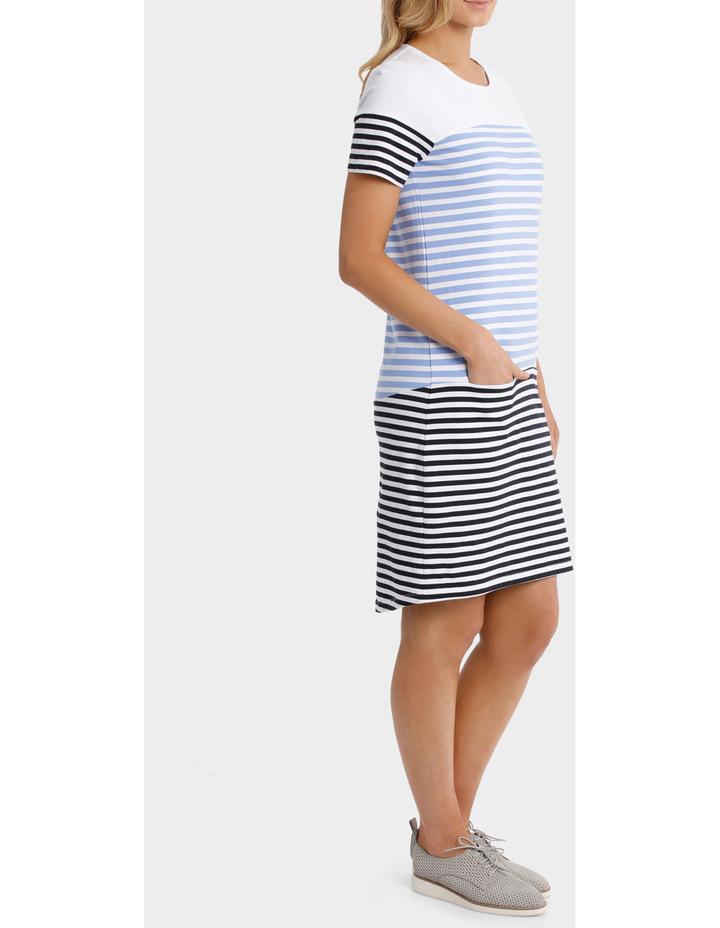 Multi Stripe Jersey Dress image 2