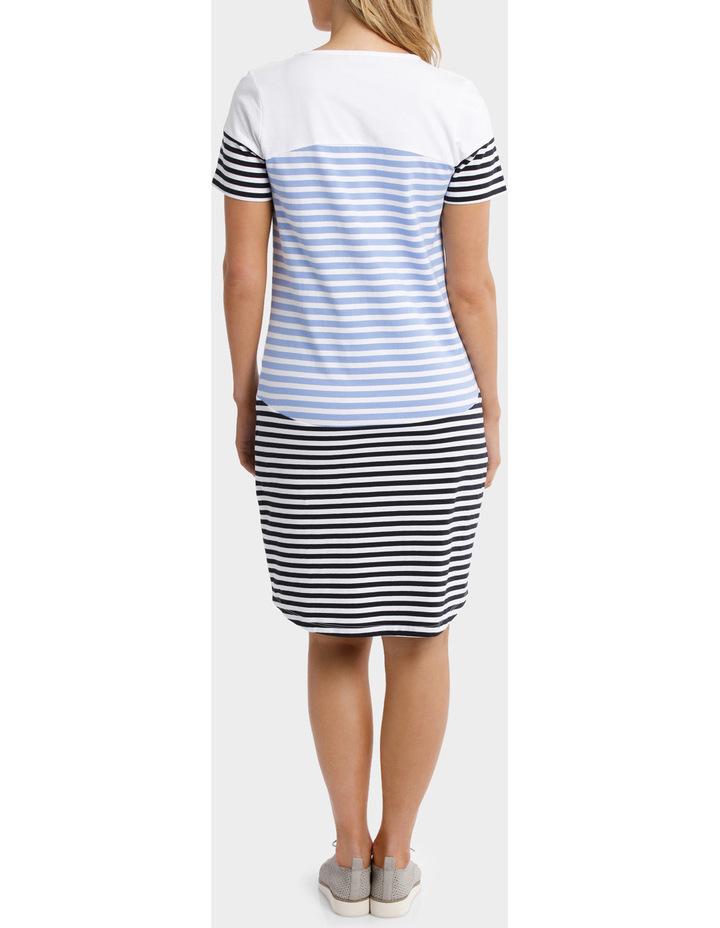 Multi Stripe Jersey Dress image 3