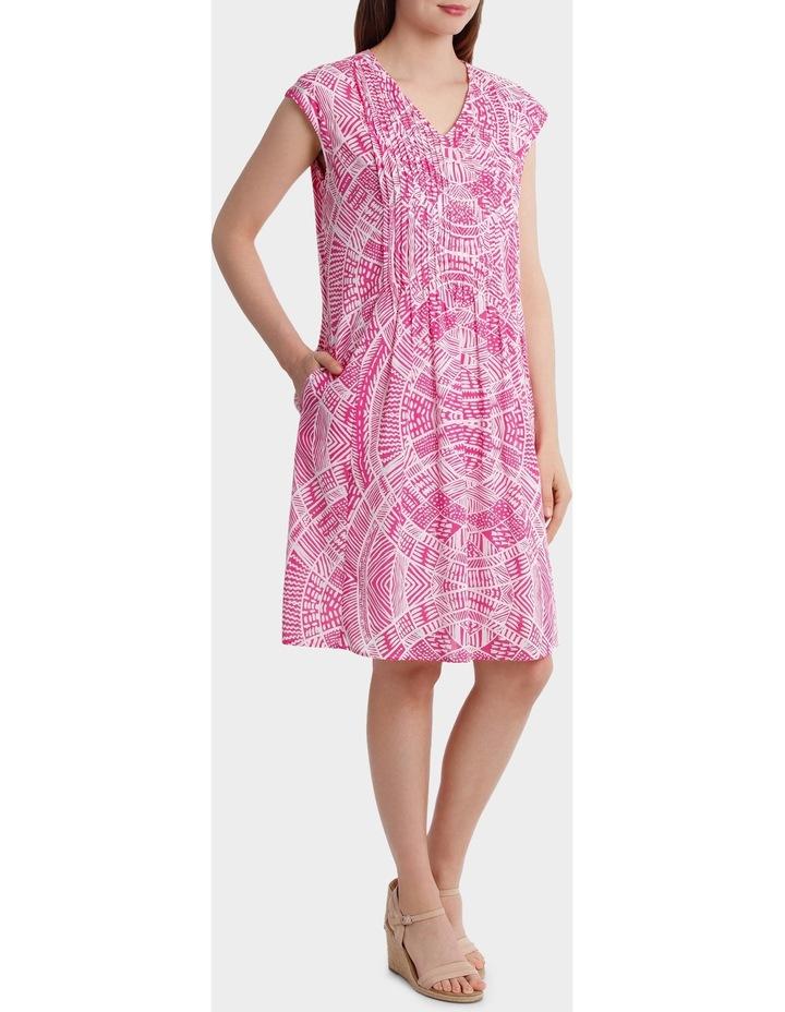 Short Sleeve Scroll Print Dress image 2