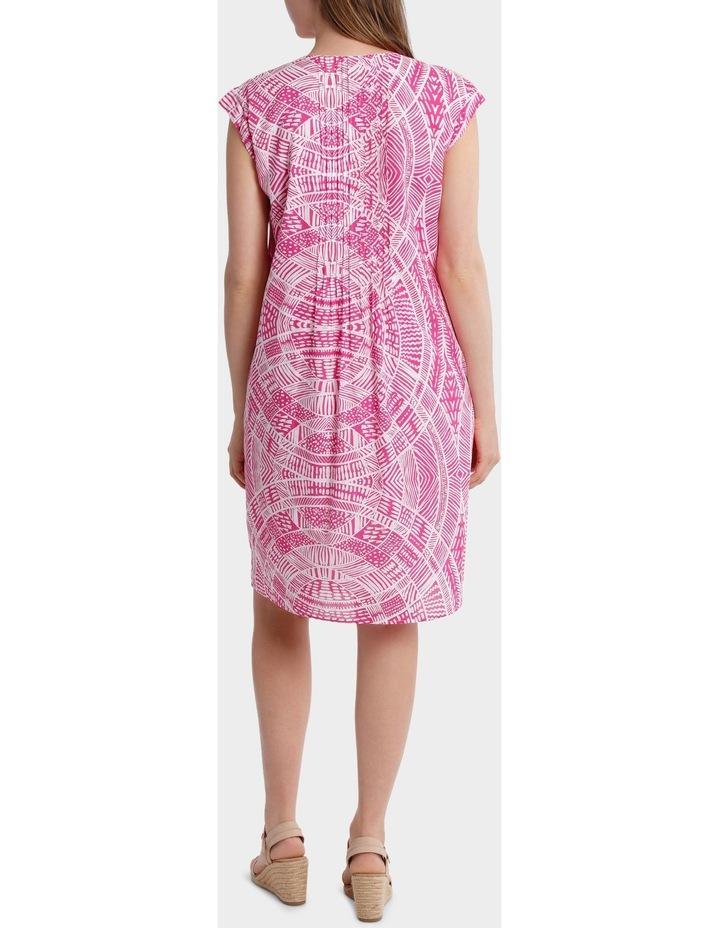 Short Sleeve Scroll Print Dress image 3